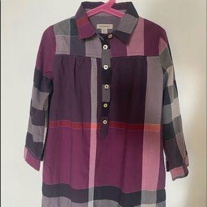 Burberry girls tunic shirt